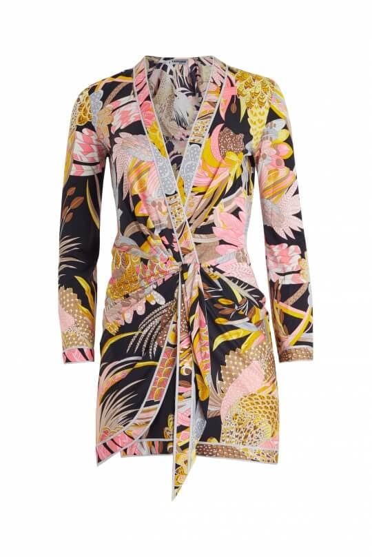 SHORT DRESS IN SILK JERSEY MINGI
