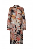 LONG TUNIC IN SILK HALO P FLORAL PRINT