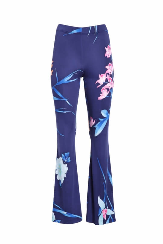 PANTS MAPPLE IN SILK JERSEY FLORAL PRINT