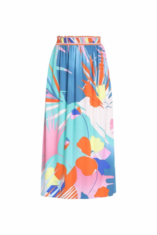 LONG DRESS GERINE PALM PRINT