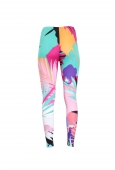 LEGGING GUSTAF IN POLYAMID JERSEY PALM PRINT