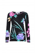 TOP MELTY IN SILK JERSEY IN FLORAL PRINT