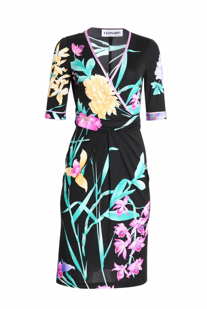 DRESS MAGGY IN SILK JERSEY FLORAL PRINT