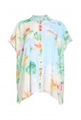 BLOUSE CARAIBE IN VEIL VISCOSE IN FLORAL PRINT