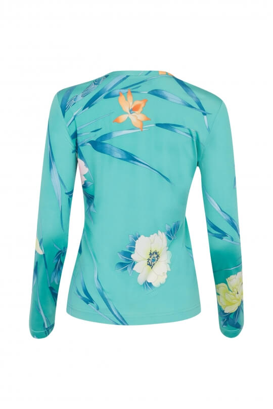 TOP MARIE IN SILK JERSEY FLORAL PRINT