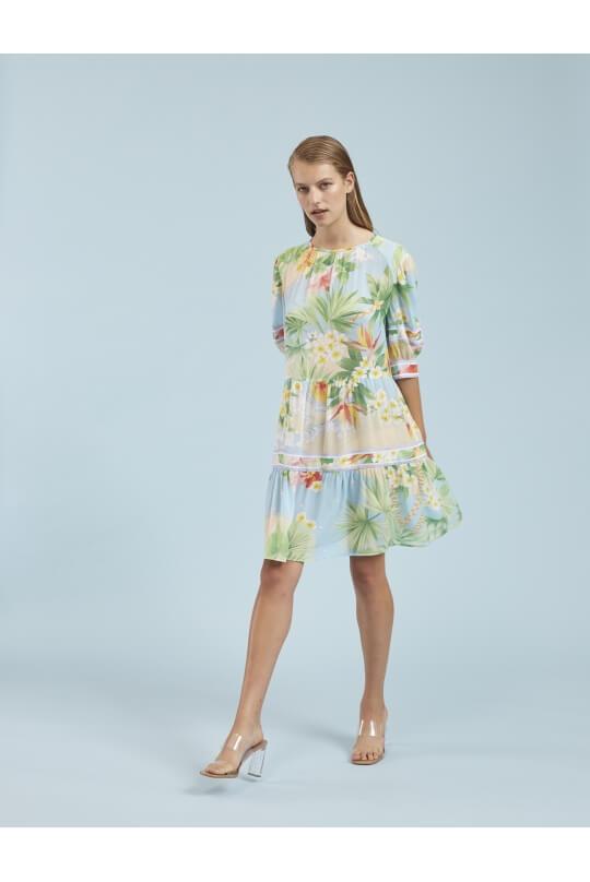 SHORT DRESS CIRIANE IN VEIL VISCOSE