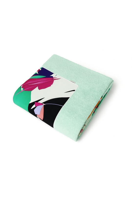 ESCALE BEACH TOWEL PRINTED FOREST