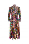 LONG PUFFY SLEEVES MID-LENGTH DRESS MELISSE