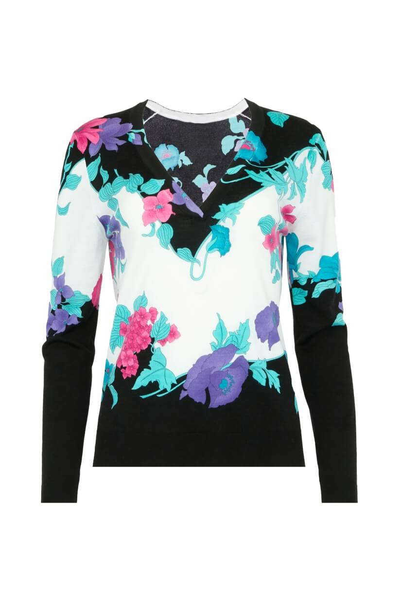 LONG SLEEVES V COLLAR SWEATER OASIS