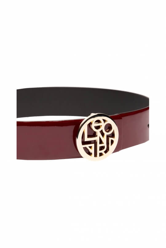 BELT IN PATENT LEATHER